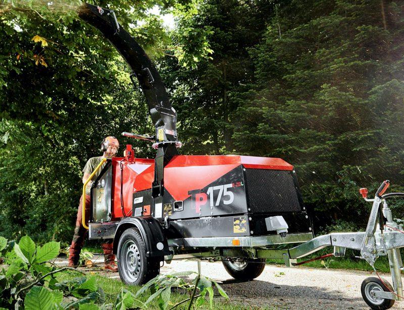 TP 175e ze Holzhacker Elektroantrieb PKW Anhänger