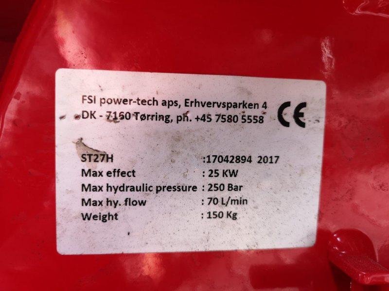 FSI Stubbenfräse mit hydr. Schwenkung H27S -Vorführgerät-