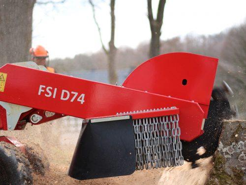 Baumstumpffräse Stubbenfräse mit Dieselmotor FSI D74