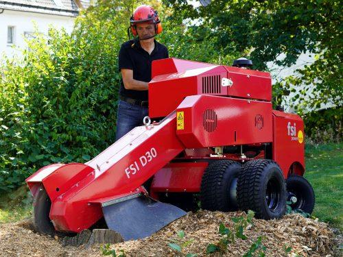 FSI D30 Baumstumpffräse Stubben schnell entfernen