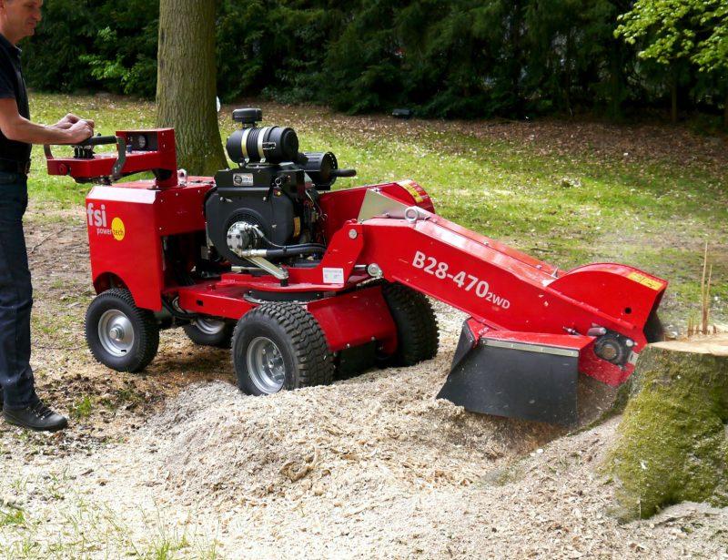 FSI Stubbenfräse Baumstumpf entfernen mit B28