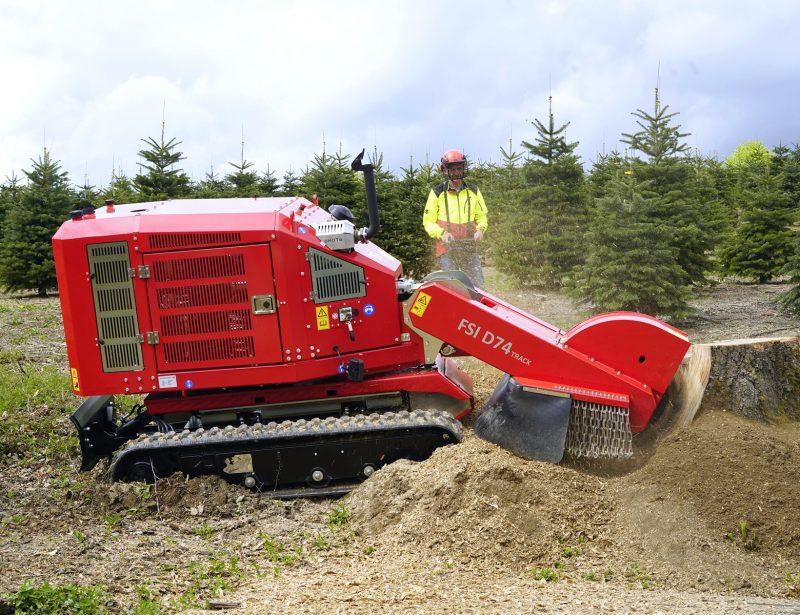 Profi Baumstumpffräse FSI D74 TRACK mit Kettenfahrwerk