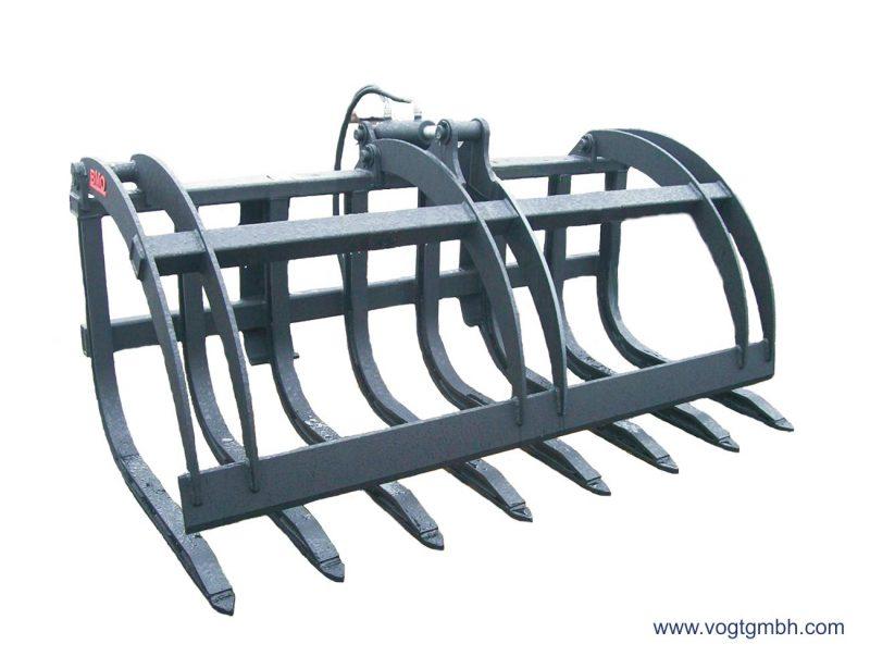Reisiggabel mit hydraulischem Drückebügel für MDB Raupen