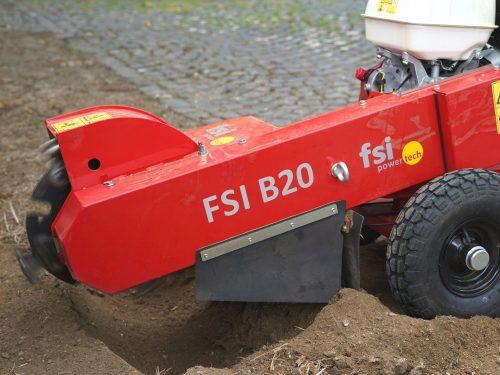 FSI Stubbenfräse handgeführt mit Benzinmotor B20