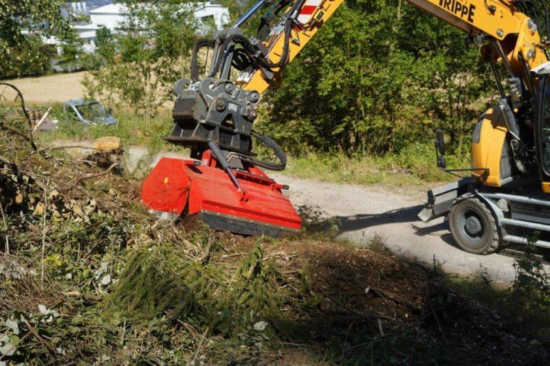 DRAGONE HFS 100 Hydraulischer Forstmulcher für Bagger