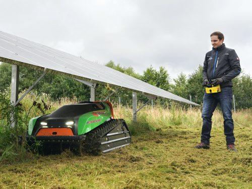 F23 Funkraupe Einsatz Solarpark