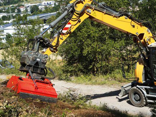 DRAGONE hydraulischer Forstmulchkopf Forstmulcher HFS